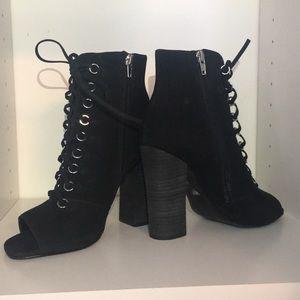 Steve Madden Freemee peep-toe, lace up booties